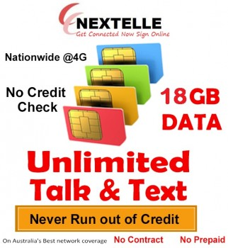 UNLIMITED NEXTELLE MOBILE PLAN 18GB Data