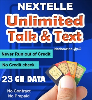UNLIMITED NEXTELLE MOBILE PLAN 23GB Data