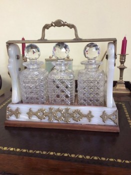 Victorian brass and marble tantulas