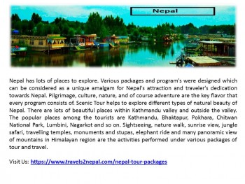 Book Nepal Tours Package in Affordable R