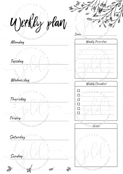 Beautiful Monthly Planner Printable