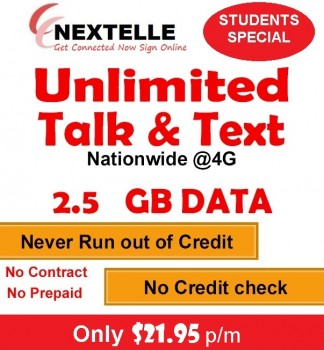 UNLIMITED NEXTELLE MOBILE PLAN 2.5GBData