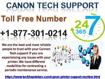 In Usa Canon Printer number 877-301-0214