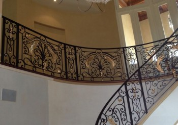 Custom Made Wrought Iron Balustrades