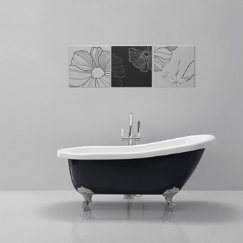 Olivia Black Modern Freestanding Baths