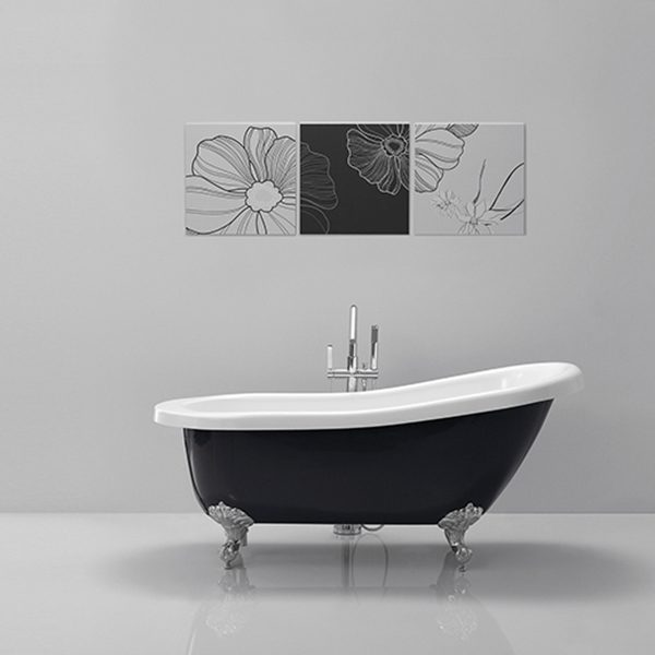 Olivia Black Modern Freestanding Baths