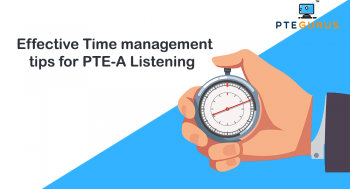 Key factors for managing time in the PTE
