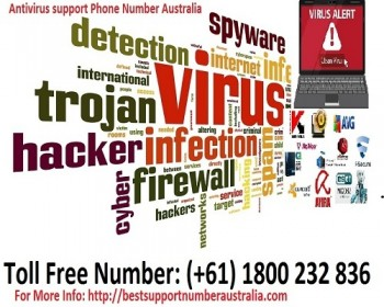 All Antivirus support Phone Number Australia Toll Free (+61) 1800 232 836
