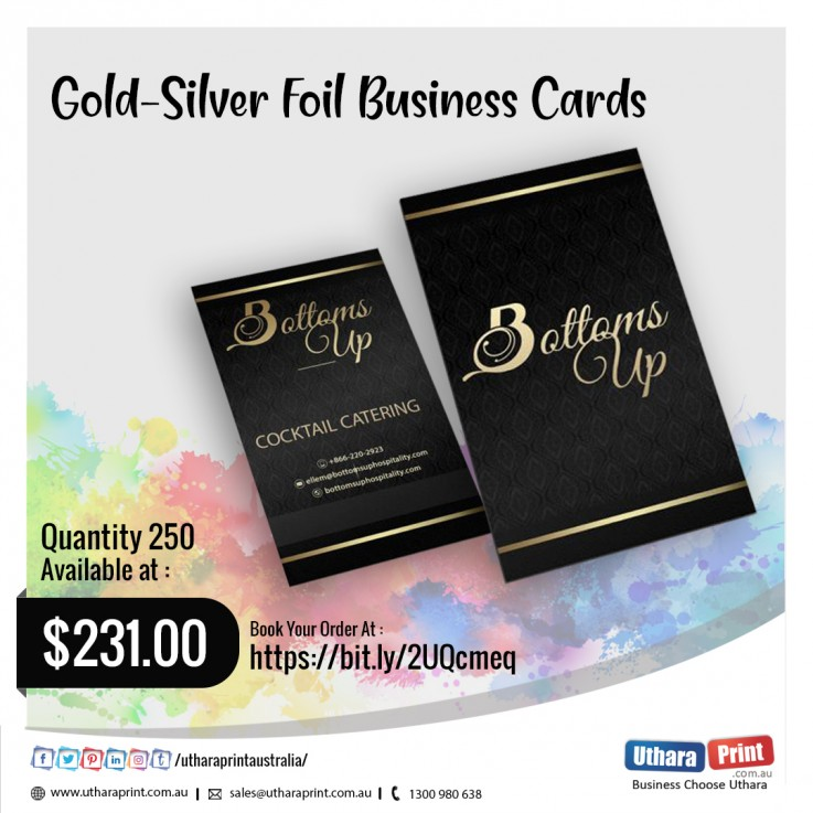 Gold-Silver Foil Business Cards
