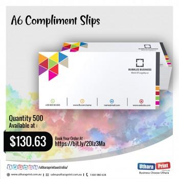 Uthara Print Australia -  A6 Compliment Slips