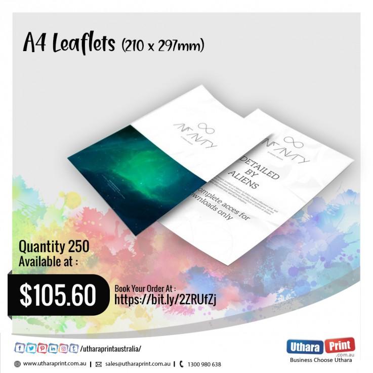 Uthara Print Australia - A4 Leaflets (210x297mm)