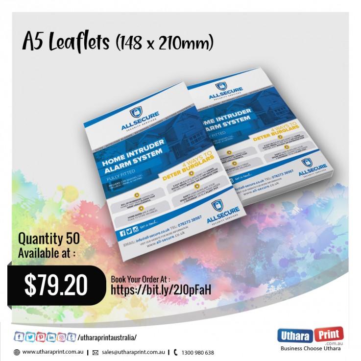 Uthara Print Australia - A5 Leaflets (148x210mm)