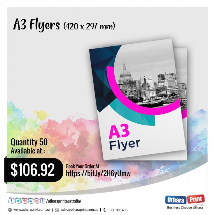 Uthara Print Australia - A3 Flyers (420x297 mm)