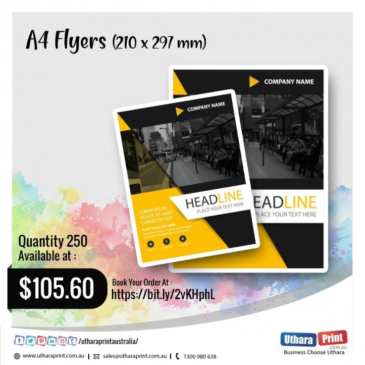 Uthara Print Australia - A4 Flyers (210x297mm)