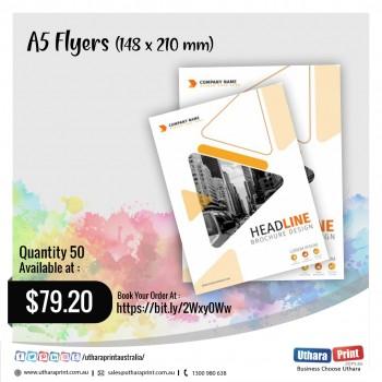 Uthara Print Australia - A5 Flyers (148x210 mm)