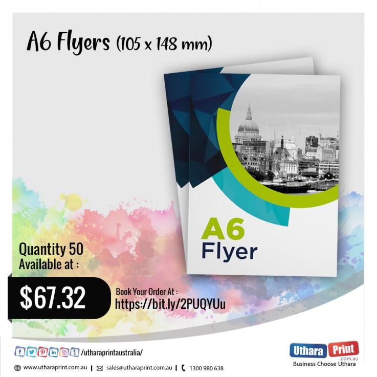 Uthara Print Australia - A6 Flyers (105x148 mm)
