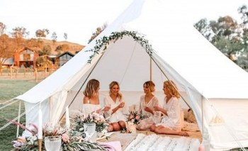 luxurious pop up hotel operator	Glamping