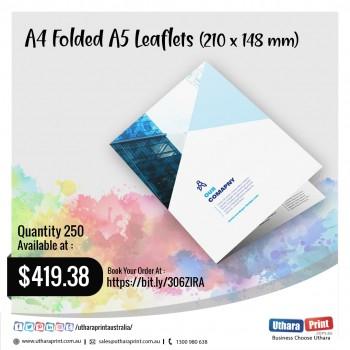 Uthara Print Australia - A4 Folded A5 Leaflets (210 x 148 mm)