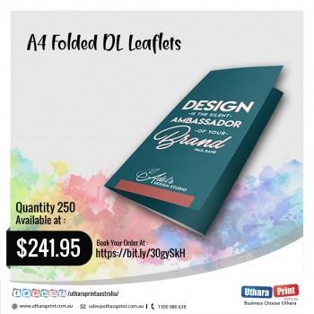 Uthara Print Australia - A4 Folded DL Leaflets (210 x 99 mm)