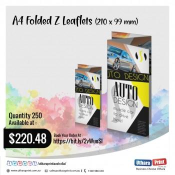 Uthara Print Australia - A4 Folded Z Leaflets (210x99 mm)