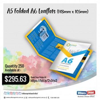 Uthara Print Australia - A5 Folded A6 Leaflets (148mm x 105mm)