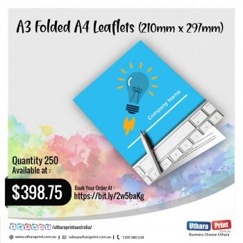 Uthara Print Australia - A3 Folded A4 Leaflets (210mm x 297mm)