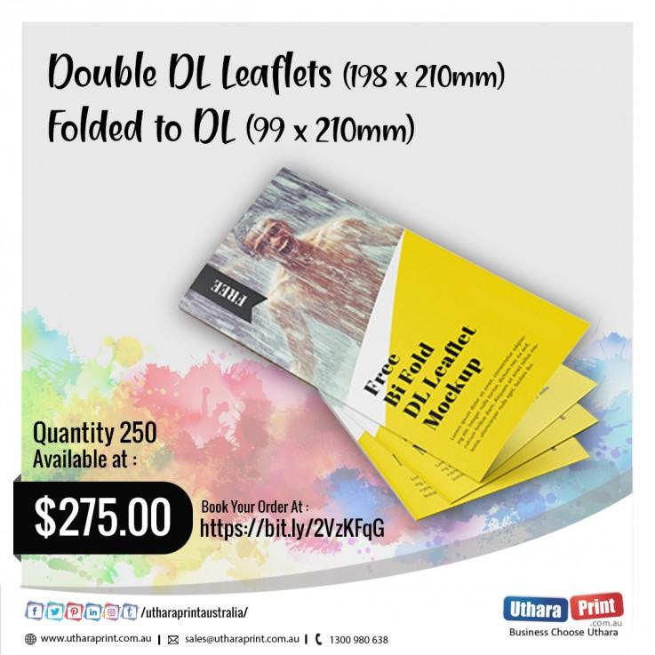 Uthara Print Australia - Double DL Leaflets (198 x 210mm) Folded to DL (99 x 210mm)