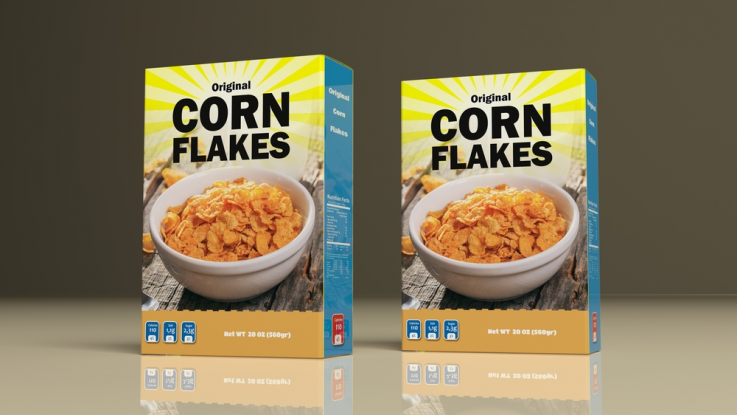 What is an interesting fact about cereal packaging?