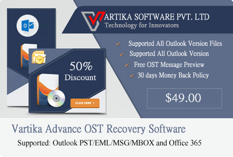Vartika  Gives Top Technology of Outlook OST Data to PST Converter Tool With FREE DEMO