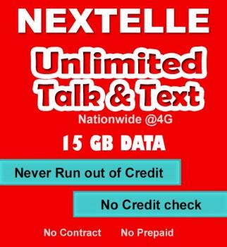UNLIMITED NEXTELLE MOBILE PLAN–15GB Data