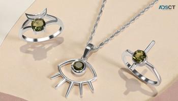 Green Stone Moldavite Jewelry at Wholesa
