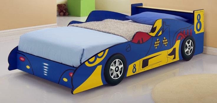Blue Racing Car Bed Kids Race  Z2334