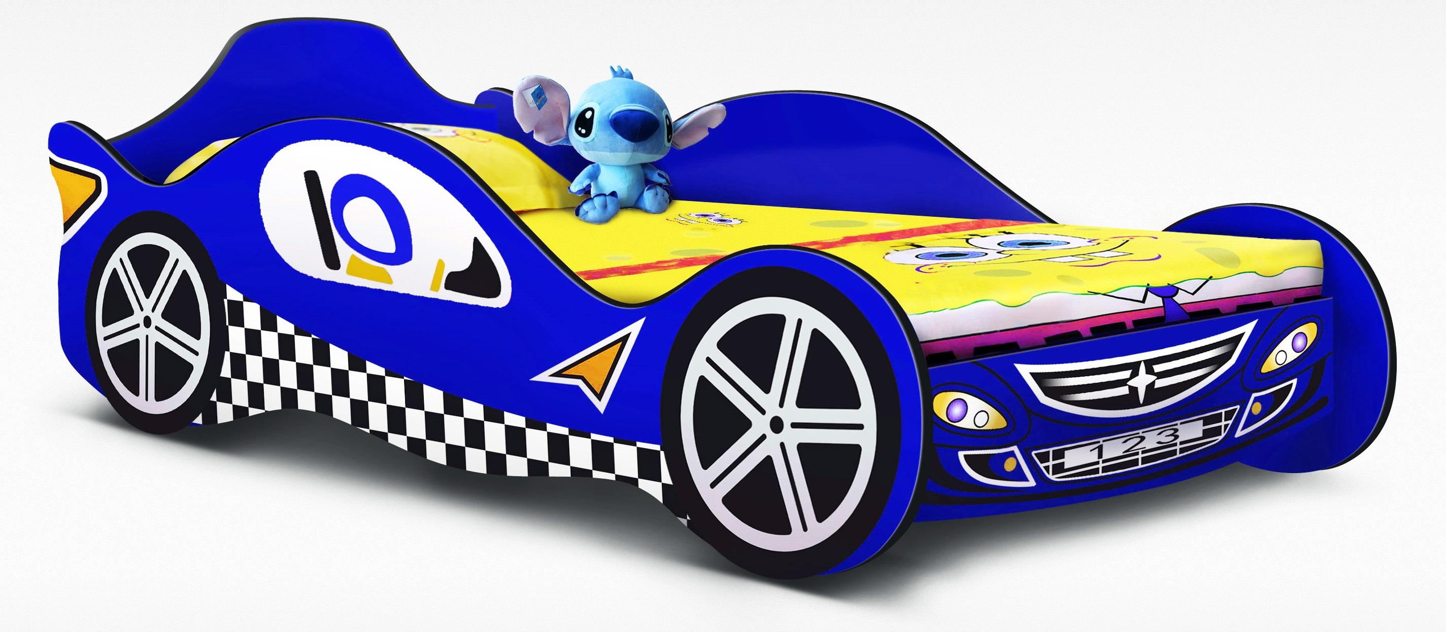 Blue Racing Car Bed Kids Race  Z2336