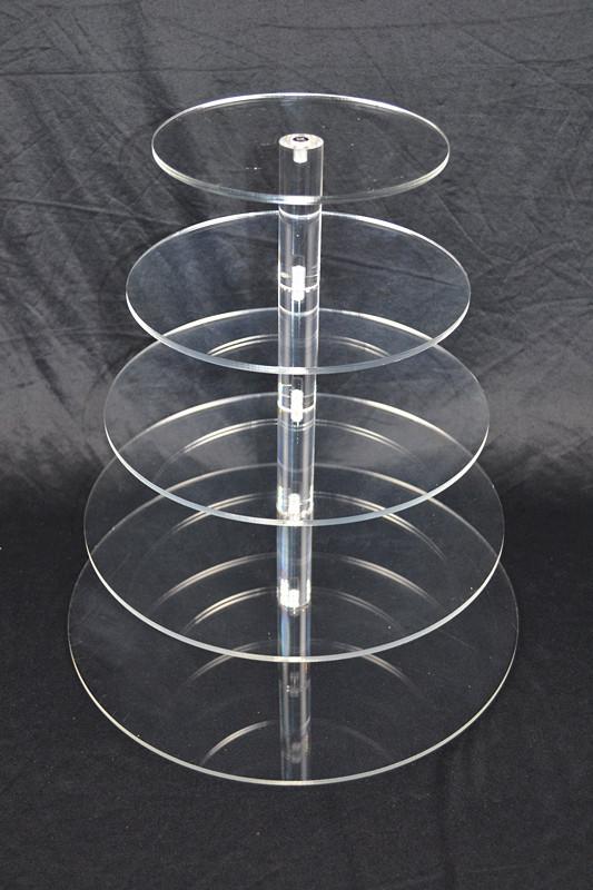 5 Tier Cupcake Stand 5mm Acrylic Wedding Display  Z2339