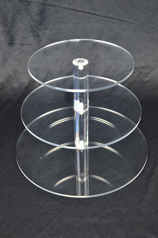 3 Tier Cupcake Stand 5mm Acrylic Wedding Display  Z2340