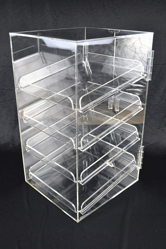 4 Tray 5mm Acrylic Bakery Muffin Donut Pastry Display Cabinet  Z2344