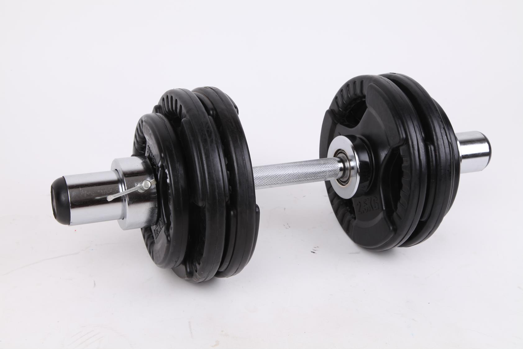 Olympic Dumbell Handles Pair Bearings Weight Bars  Z2369