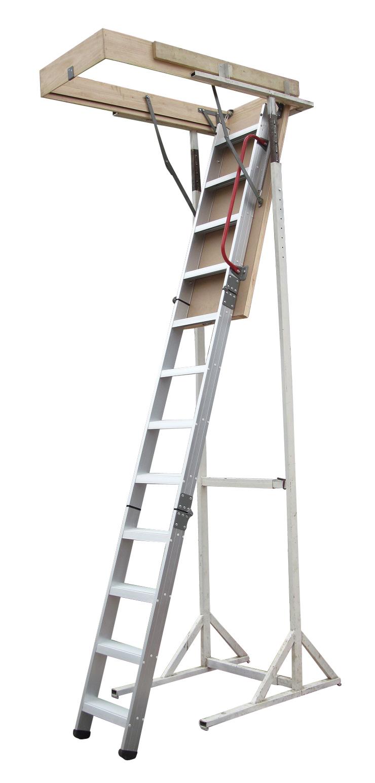 Deluxe Aluminium Attic Loft Ladder - 2700mm to 3050mm  Z2388
