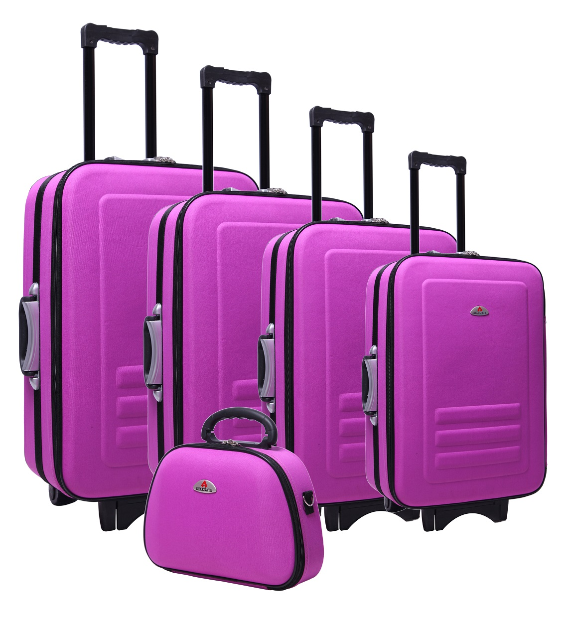 5pc Suitcase Trolley Travel Bag Luggage Set PURPLE  Z2409