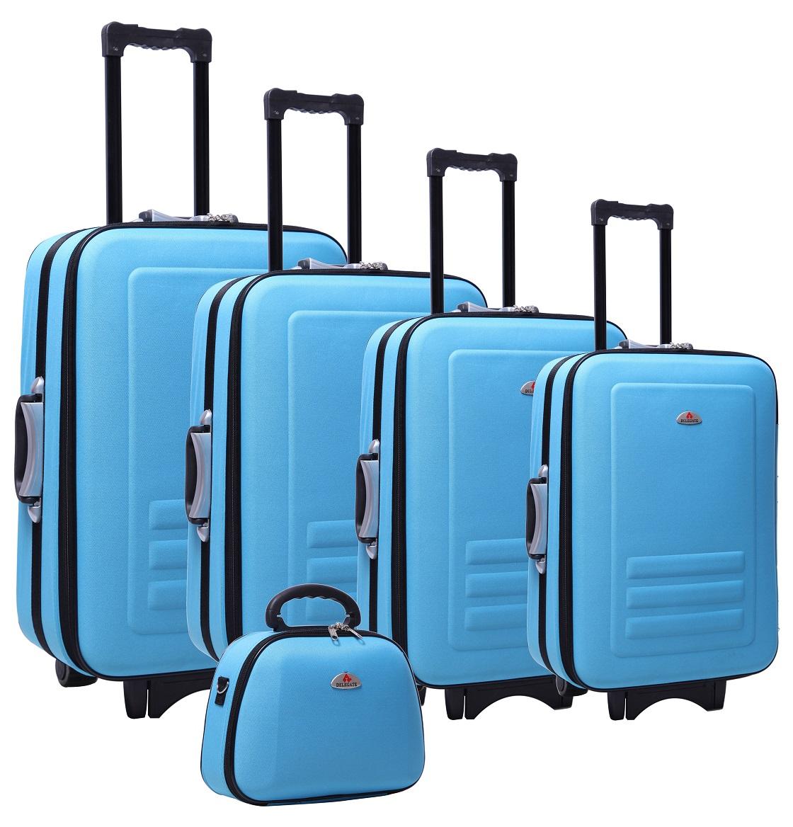 5pc Suitcase Trolley Travel Bag Luggage Set BLUE  Z2411