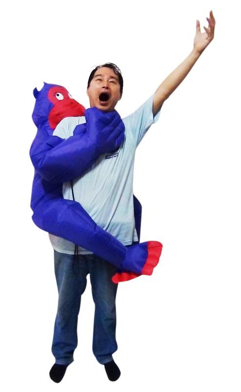 GORILLA Fancy Dress Inflatable Suit -Fan Operated Costume  Z2438
