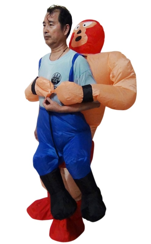 WRESTLER Fancy Dress Inflatable Suit -Fan Operated Costume  Z2440