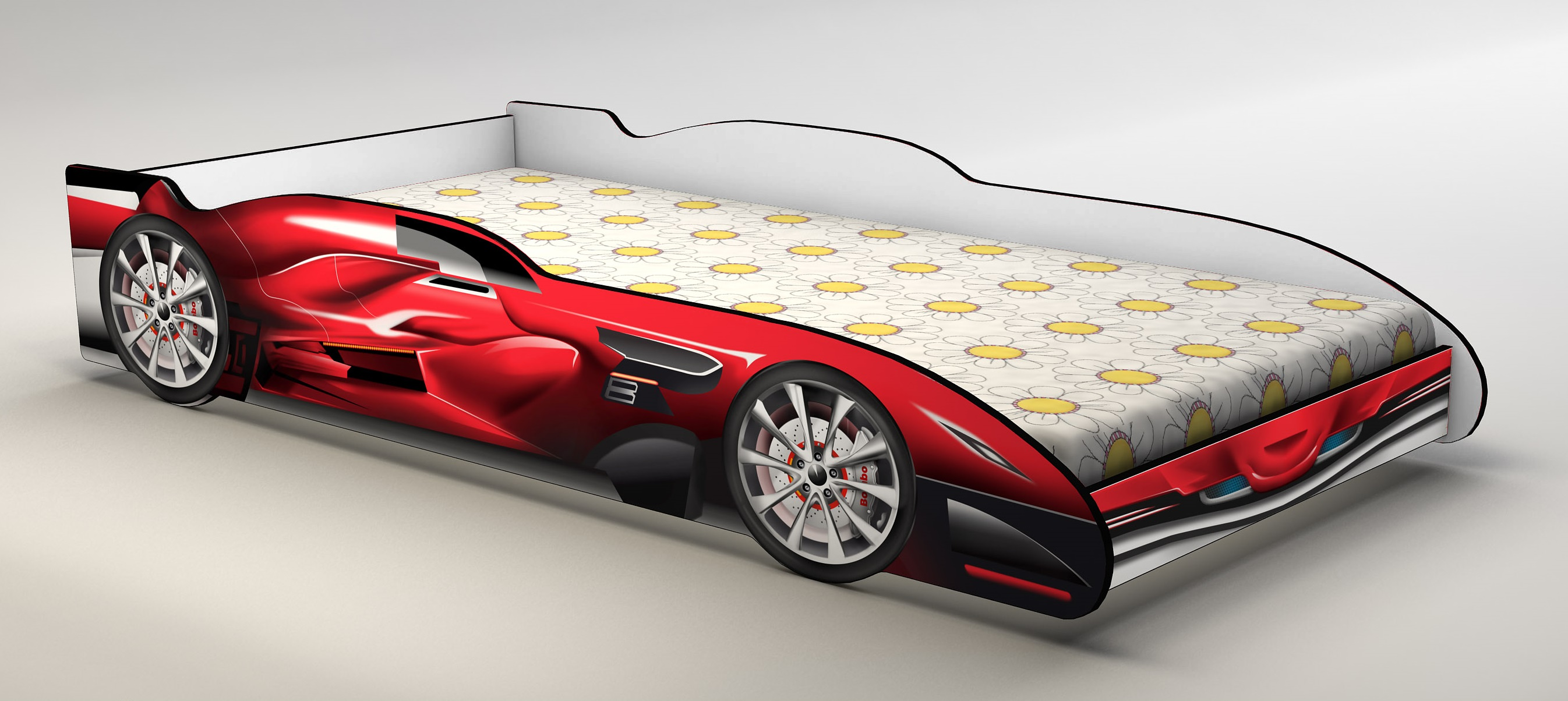 Red Racing Car Bed Kids Race  Z2457