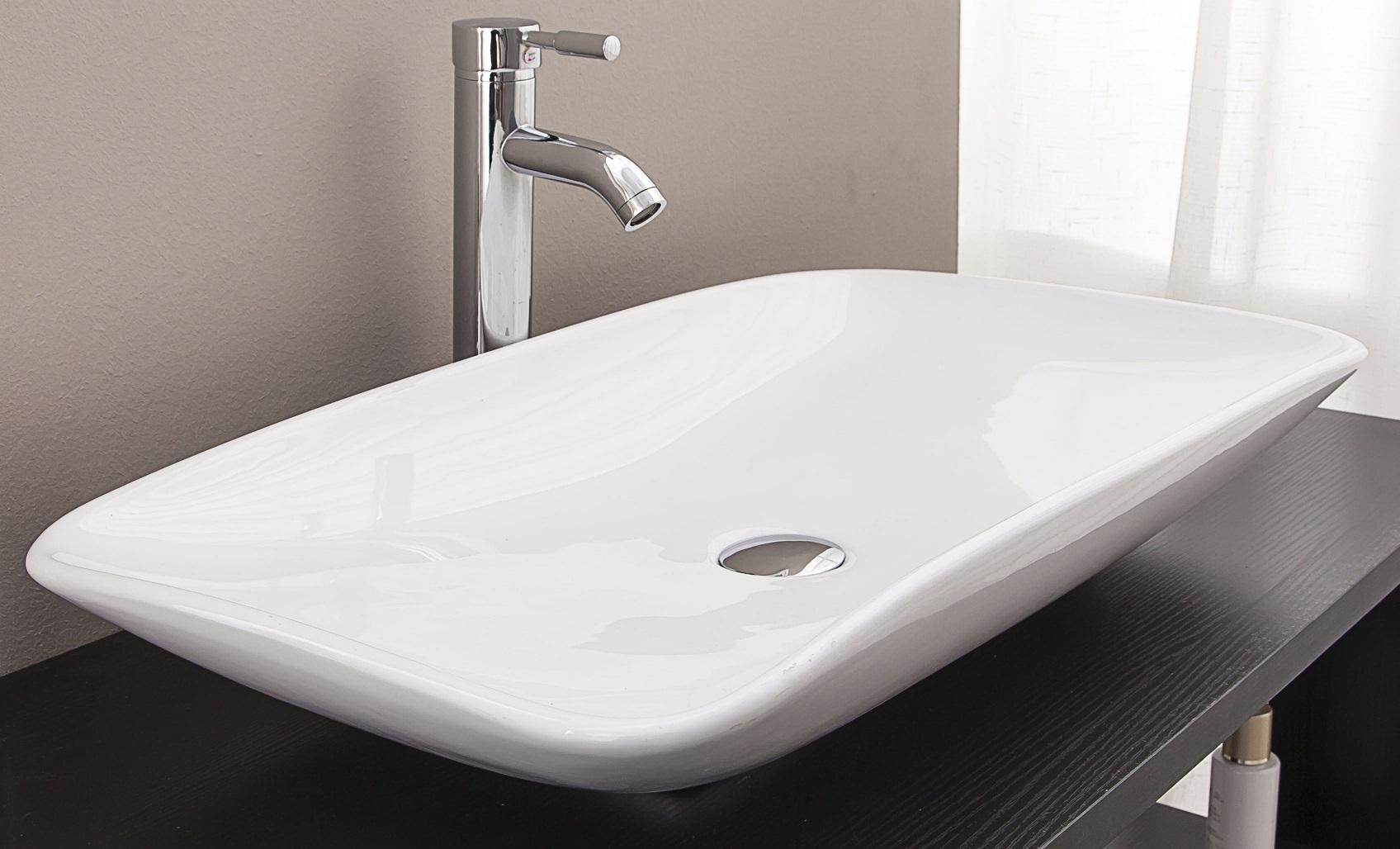 Bathroom Ceramic Rectangular Above Countertop Basin for Vanity  Z2470