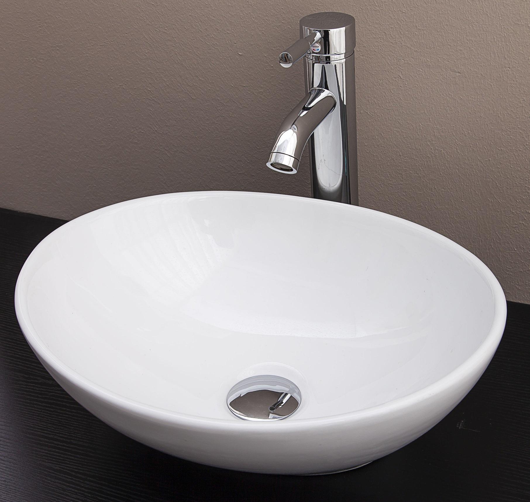 Above Counter Bathroom Vanity Oval Ceramic Basin  Z2472
