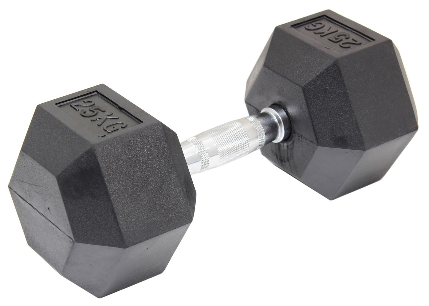 25KG Commercial Rubber Hex Dumbbell Gym Weight  Z2482