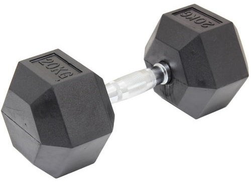 20KG Commercial Rubber Hex Dumbbell Gym Weight  Z2483