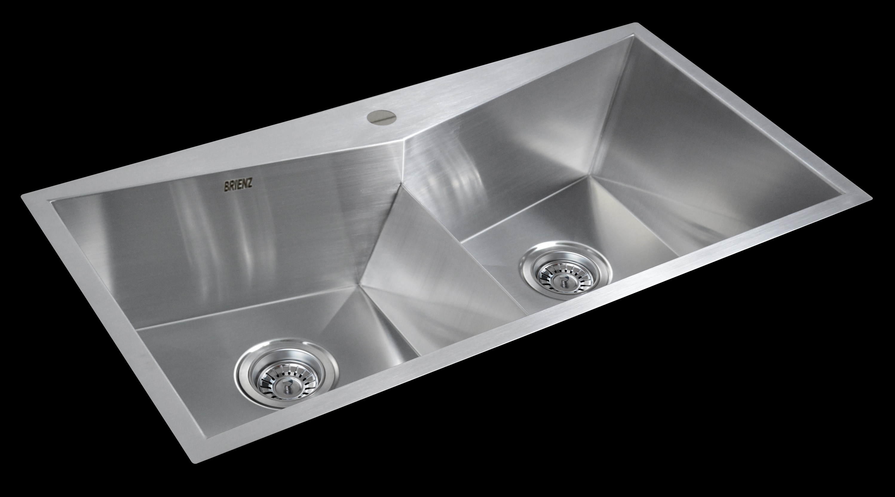 850x450mm Handmade Stainless Steel Topmount Kitchen Laundry Sink with Waste  Z2523