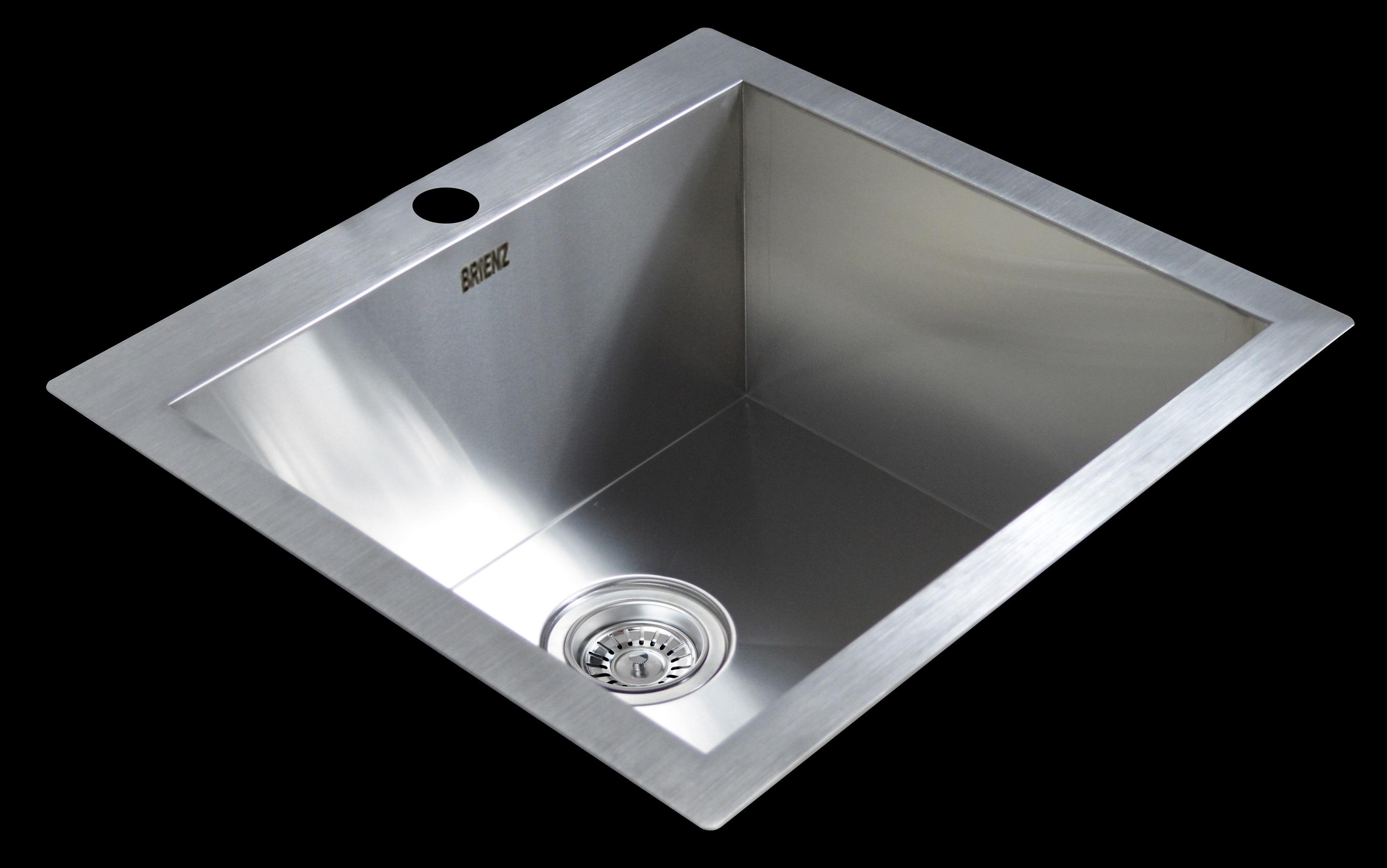 530x505mm Handmade Stainless Steel Topmount Kitchen Laundry Sink with Waste  Z2524