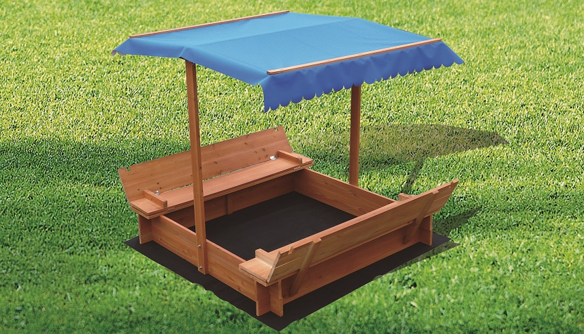 Kids Wooden Toy Sandpit with Canopy  Z2533